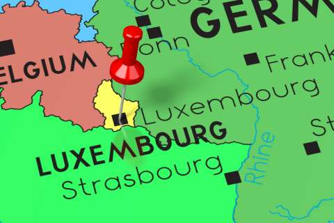 Luxembourg with its neighboring countries